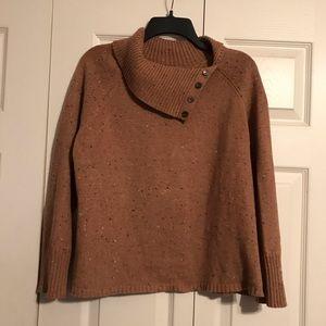 J JILL Medium Camel Sweater Turtleneck